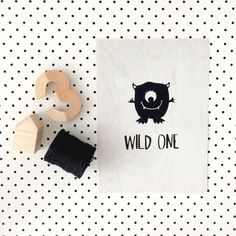 Shaved ply wild one artwork with little by piccolostudiostore, $40.00