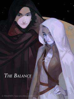 wacoincidence: Love is the Balance. Rey Star Wars, Star Wars Fan Art, Star Wars Rebels, Star Wars Zeichnungen, Reylo Fanart, Star Wars Drawings, Drawn Art, Character Design, Character Art