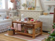 Omg! Can it get any better?! The prettiest mini kitchen ever!!