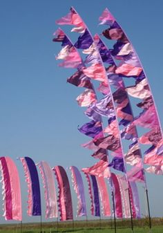 Big Wave Festival Flags. Add to the entrance of a marquee? Needs to be blue/pink