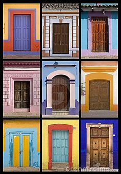 Mexican doors by Arturo Osorno, via Dreamstime