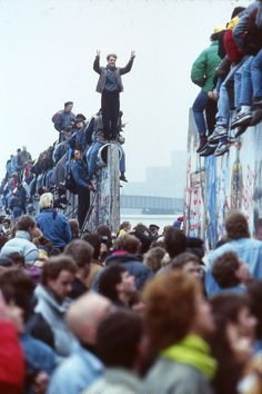 """November 9th 1989 4:30pm - the fall of the Berlin Wall; 2 years after President Reagan's famous speech """"Mr. Gorbachev, tear down that wall!"""""""