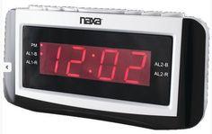 Naxa AM FM Dual Alarm Clock Radio Black 10 AM 10 FM Presets from US Seller #Naxa #AMFMClockRadio