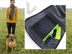 Good Gifts for Guys: Fleece Scarf with Zippered Pocket Carry the essentials in the pocket. | Sew4Home