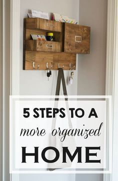 """Organizing your home can be a daunting task, but the feeling of accomplishment is wonderful! Organize an area near the front door or by the garage that you designate as the """"drop zone"""" for backpacks, jackets, and shoes. Add wall hooks and install a locker for each member of the household. Display a family calendar to keep track of your busy schedule. You can purchase a ready-made one or take it on as a fun DIY project with the family! Check out eBay's guide for more home organization tips."""