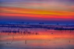 Sunrise on the marsh by Patrick Strock on 500px