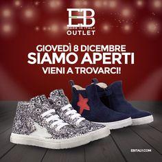 EB SHOES Outlet vi aspetta il giorno 08/12 con tante calzature 100% Made in Italy per i vostri bambini e bambine. Ci trovate in Via dell'Industria 53/A - Zona Industriale Paludi, Fermo - Tel. 0734 640889. Visita il nostro e-commerce www.ebitaly.com