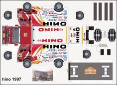 Free Download Paper Model Trucks | 1997 team hino n427 - Le Dakar en maquette