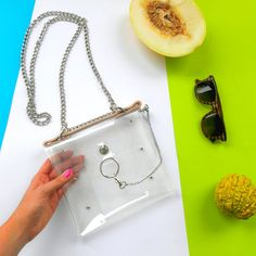 Luxury clear handbag with ring pvc transparent bag by YPSILONBAGS