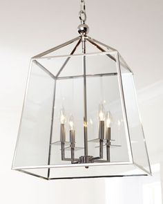 Square Four-Light Glass Lantern by Regina-Andrew Design at Horchow.