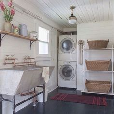 love the laundry room sink   Washer Odor?   Smelly Towels?   Stinky Clean Laundry?   http://WasherFan.com   Permanently Eliminate or Prevent Washer & Laundry Odor with Washer Fan™ Breeze™   #Laundry #WasherOdor