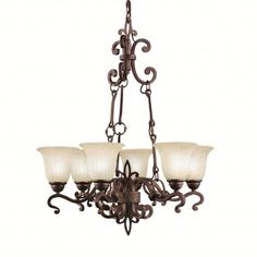 Buy the Kichler Carre Bronze Direct. Shop for the Kichler Carre Bronze Wilton Single-Tier Chandelier with 6 Lights - Chain Included - 28 Inches Wide and save. Buy Chandelier, Chandelier Lighting Fixtures, Foyer Lighting, Bronze Chandelier, Bathroom Light Fixtures, Cool Lighting, Bathroom Lighting, Chandelier Ideas