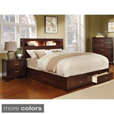 Furniture of America Clement Storage Platform Bed with Lighting | Overstock.com Shopping - The Best Deals on Beds