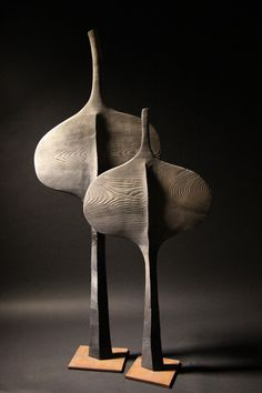 thierry-martenon-modernist-sculptures - Everything About Charcoal Drawing and Sculpture Sculptures Céramiques, Art Sculpture, Thierry Martenon, Keramik Vase, Wooden Art, Land Art, Art Object, African Art, Ceramic Art