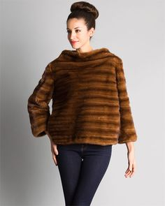 J. Mendel Brown Mink Pullover Fur My Classic! Love wearing it year after year! A purchase you will truly love yourself for!