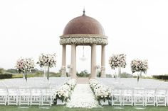 Newport Coast Wedding Ceremony Romantic Weddings, Real Weddings, Destination Weddings, Dream Of Getting Married, Outdoor Ceremony, Wedding Ceremony, Wedding Altars, Floral Chandelier, Wedding Videos