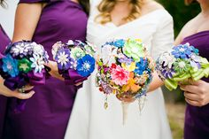 A DIY Greenhouse Wedding | Glamour & Grace ... like the paper bouquets!