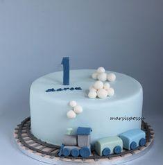 Girly Birthday Cakes, Baby First Birthday Cake, Bithday Cake, Cake Designs For Kids, Cake Decorating Designs, Balloon Cake, Baby Shower Cakes For Boys, Fondant Cakes, Cake Baby