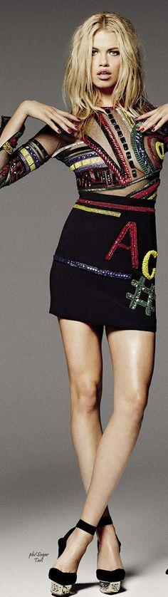 Hailey Clauson in Versace by James Macari - Grazia France