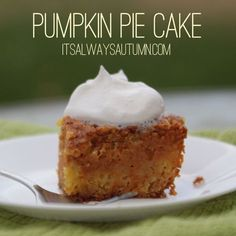 my new favorite #thanksgiving #recipe: #pumpkin #pie cake! it's easier to make than pumpkin pie and tastes even better.