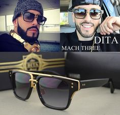 2016 nova moda Dita Mach três óculos De Design da marca quadrado quadro Retro Vintage luxo óculos De Sol Oculos De Sol Gafas em Óculos Escuros de Roupas e Acessórios - Masculino no AliExpress.com | Alibaba Group