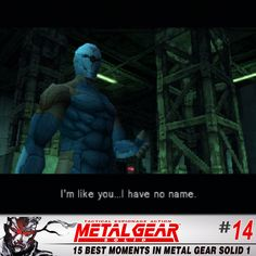 The Number 14 Moment in Metal Gear Solid 1: The FIRST appearance of Cyborg Ninja. Few MGS characters have made such an impact as the original, cybernetic badass.
