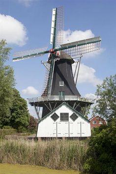 """Woltersum  """"Fram"""" adres Kollerijweg 5, 9795 PL, Woltersum functie koren- en houtzaagmolen type          achtkante stellingmolen bouwjaar 1867 eigenaar Het Groninger Landschap"""