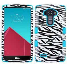 MYBAT TUFF Hybrid LG G4 Case - Zebra/Teal