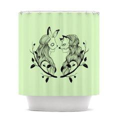 "Jaidyn Erickson ""Foxybuns"" Shower Curtain | KESS InHouse"