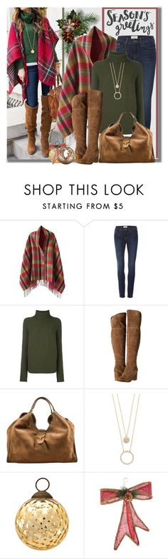 """""""Season's Greetings"""" by brendariley-1 ❤ liked on Polyvore featuring Frame, Christian Wijnants, Splendid, Gucci, Kate Spade, Cultural Intrigue, Amara, Glory Haus and Christmas"""