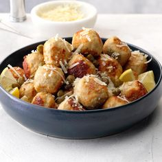 Chicken Piccata Meatballs