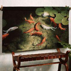 Surfacing Wall Tapestry-Orange