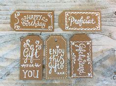 #echtmiek #Kado #cadeau #label #handletteren #handlettering #inpakken #craftpapier
