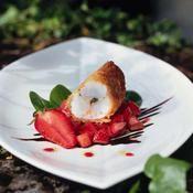 Kadaïf de langoustines, tartare de fraises - une recette Fruits de mer - Cuisine