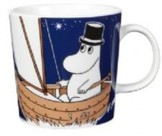 New Moominpappa mug for 2014 the right hand side picture of Papp sailing, doing a little star gazing, so relaxing....