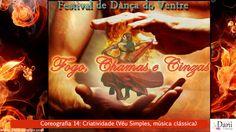 Festival Fogo Chamas e Cinzas - 14 - Criatividade - Dança do Ventre Campinas - Véu Simples // A força criativa que gera e mantém o mundo representada por uma coreografia de véus.  Coreógrafa: Dani Boscolo