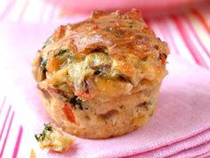 litt sunnere muffins med salami og ost