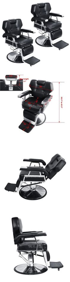Stylist Stations and Furniture: 2X Reclining Hydraulic Barber Chair Salon Beauty Spa Styling Shampoo Equipment -> BUY IT NOW ONLY: $547.75 on eBay!