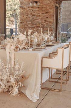 Neutral Wedding Decor, Beige Wedding, Chic Wedding, Floral Wedding, Perfect Wedding, Wedding Colors, Neutral Wedding Flowers, Wedding Dress, Wedding Dinner