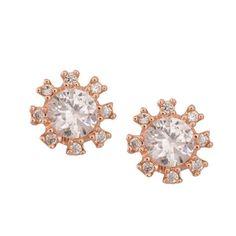 Rose Gold Plated Brass Earrings #trendingjewellery, #IndianWedding, #Dreamy