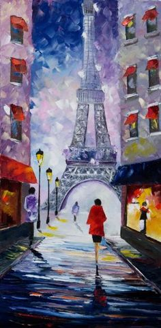 """ An evening at the Eiffel Tower """
