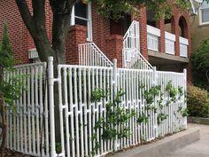 PVC fence.