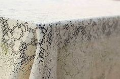 Penny Vintage Lace Tablecloth, vintage linens for rent Dish Wish California & Hawaii Event Rentals, vintage linens for wedding, vintage bridal shower, vintage lace, lace wedding