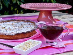 7gramas de ternura: Tarte de Pêra e Amêndoa com Calda de Chocolate