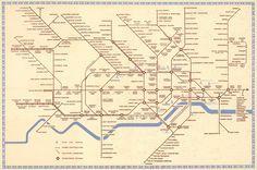 "Historical Map: 1941 London Underground Map by Hans ""Zéró"" Schleger"