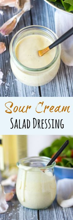Sour Cream Salad Dressing. Simple to put together with storecupboard ingredients.