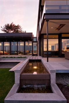 Hilltop residence on a bluff overlooking Lake Washington