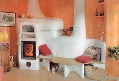 poeles de masse Feng Shui, Home Rocket, Stair Shelves, Rocket Mass Heater, Earth Bag Homes, Blue Ceilings, Stove Oven, Rocket Stoves, Moroccan Decor