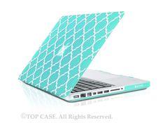 "Quatrefoil / Moroccan Trellis Hot Blue / Turquoise Hard Case for Macbook Pro 15"" Model: A1286"