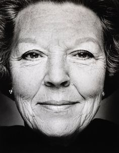Black and White Photography Portrait of (ex) Queen Beatrix by Stephan Vanfleteren Royal Familie, White Photography, Portrait Photography, Royal Dutch, Kingdom Of The Netherlands, Paris Match, Dutch Royalty, Foto Art, Black And White Portraits